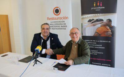 Restauración Mallorca y Projecte Home Balears firman un convenio de colaboración